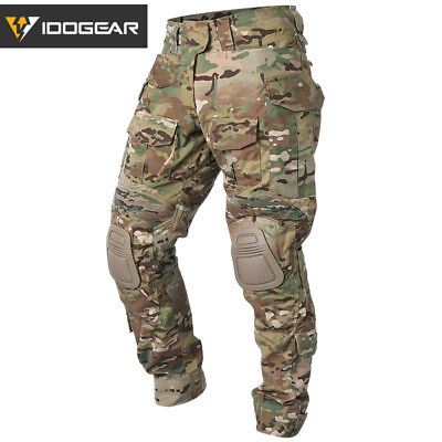 IDOGEAR G3 Combat Pants w/ Knee Pads Airsoft Tactical Trousers Camo Multicam