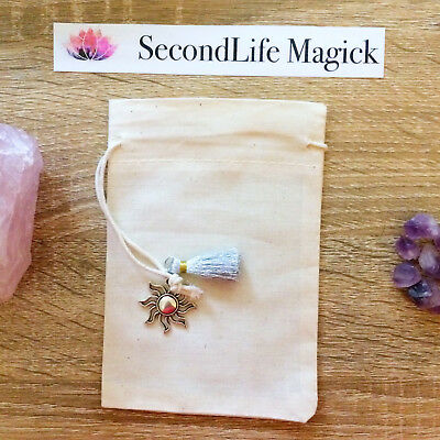 Crystal Bag With Sun Charm 💫 ~ Magick Spell Card Oracle Wicca Tarot Cards.