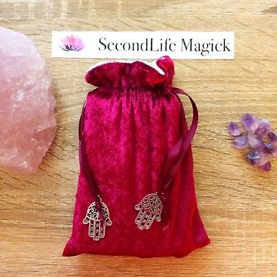 Burgundy Velvet Tarot Bag Oracle Pouch  ✨~ Wicca, Occult, Magick, Pagan.