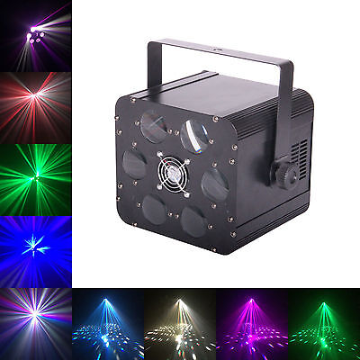 CUELighting Saxon Disco Light - DMX 24W RGBW LED 6 way rotating moonflower dj