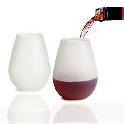 Unbreakable Stemless Silicone Wine Glass Colorful Foldable Outdoor Cup Glass Fsp