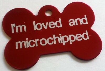 Dog Tags Bone Shaped Engraved Personalised Pet ID Dog Cat Puppy Disc