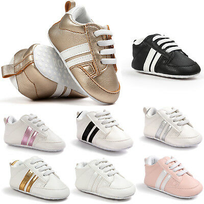 Infant Baby Boy Girl Soft Sole Crib Newborn Non-slip Shoes Sneaker 0-18 Months