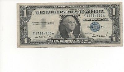 1957 One $1 Dollar Silver Certificate Notes G - VG US Currency