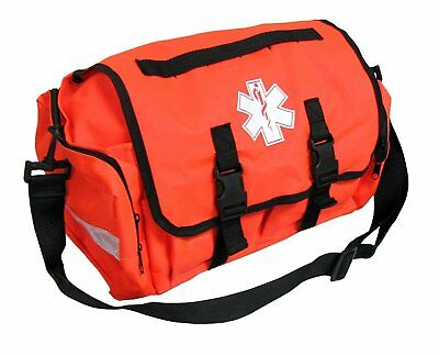 "First Responder Emt Paramedic On Call Trauma Bag W/ Reflectors Orange 17""X7X10"