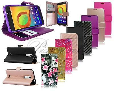 For Alcatel A3 Plus 3G 5011X New Stylish Black Leather Wallet Phone Case Cover