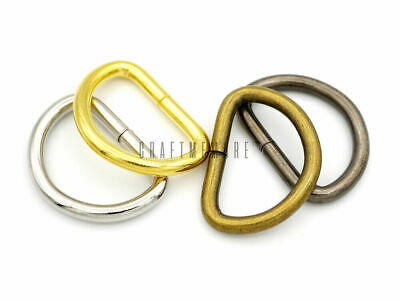 Metal D-Ring Non-Welded Dee Rings for Belts Bags Landyard DIY Craft - Pick Sizes