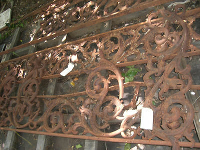 CAST IRON fence panels ORNATE ARCHITECT. ANTIQUE 1850