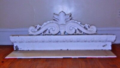 Vintage  CAST  IRON  Lintel pediment cornice  eyebrow  Architectural
