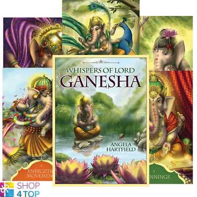 Whispers Of Lord Ganesha Oracle Deck Cards Angela Hartfield Blue Angel New