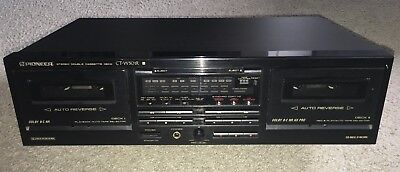 Vintage Pioneer CT-W501R Cassette Recorder Player Cassette Tape Deck