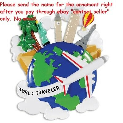 Vacation World Travel London Paris Rome Personalized Christmas Tree Ornament