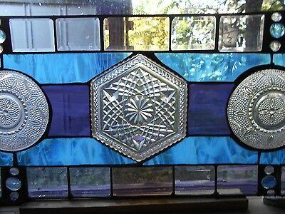 Verticle Or Horizontal Vintange Plates In Stained Glass