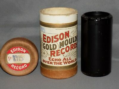 EDISON GOLD MOULDED CYLINDER RECORD - #8915 Hear Me, Norma