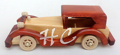 Vintage Old Model Handmade Wooden Car~Handcrafted Antique Classical Car Toy