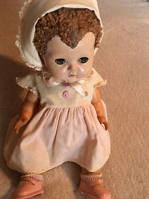 American Character 1950 Tiny Tears Layette Pipe Caracul Wig Fairyland Shoes Sock