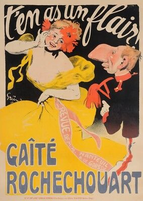 "Original Vintage French Poster ""T'en As Un Flair!"" by Grun 1906"