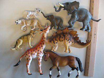 Schleich, PAPO, Safari Greenbrier Animal Toy Figure Lot