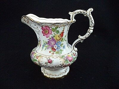 Hammersley china cream milk pitcher 4.75in Dresden Sprays England flowers roses