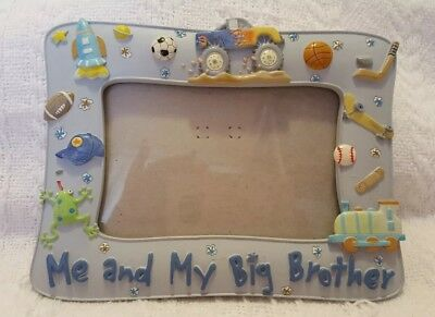 Me And My Big Brother Ceramic Blue Picture Frame Approx 6x7 1600