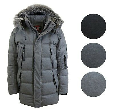 Men's Water Resistant Parka Jacket Heavyweight Warm Insulated - Size S M L XL
