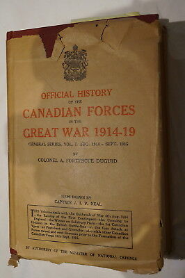 WW1 Canadian CEF Official History Of Canadian Forces In Great War Reference Book