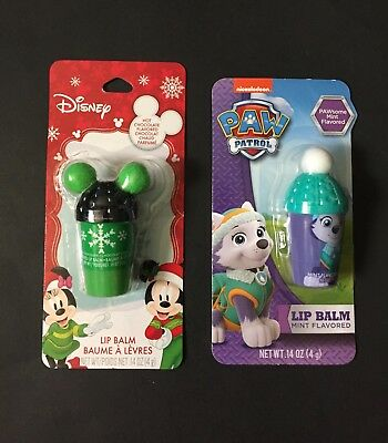 Your Choice of Disney or Paw Patrol Holiday Flavored Lip Balm
