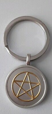 Pentagram keychain boxed travel gift protection Witchcraft pentacle Pendant