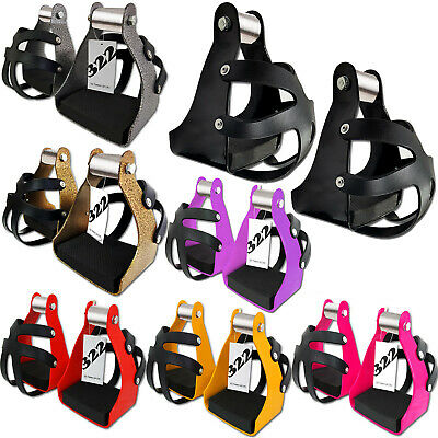 Endurance Trail Stirrups With Cage Horse Saddle Lightweight Aluminum For Adults