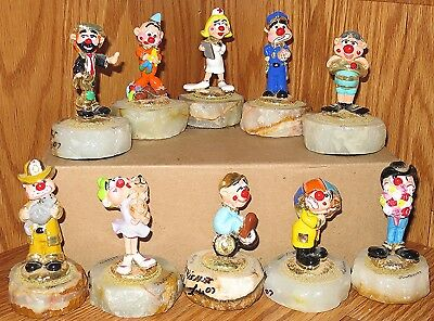 2009 Ron Lee  Clown Collection Of 10 Figurines. All  24 / 2500. Signed.