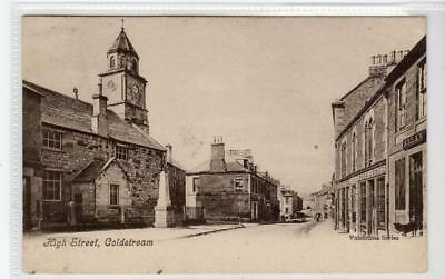HIGH STREET, COLDSTREAM: Berwickshire postcard (C31891)