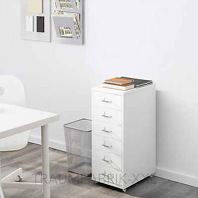 Ikea Helmer Drawer Unit With Wheels Office Cupboard White Container Nip