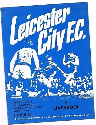 Leicester V Liverpool 7/8/1971 Charity Shield