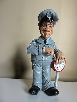 Bus Driver 6.5 In. Warren Stratford Male Figurine Cross Eyed Looking At Watch