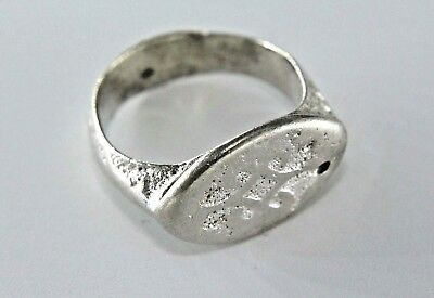 Stunning Ancient Roman Solid Silver Ring. Ready To Wear!   1V269