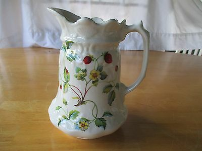 Vintage James Kent Old Foley Strawberry Pitcher Made In England