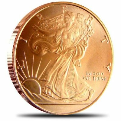 Best Junk Drawer: 1 OZ .999 Copper Round Bullion - AVDP - Walking Liberty - Coin