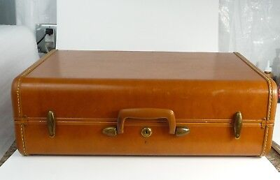 VINTAGE 4621 SAMSONITE BROWN HARD SIDE SUITCASE/LUGGAGE Shwayder Bro.