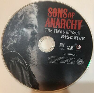 Sons Of Anarchy Final Season Disc 5 Replacement DVD Disc Excellent Condition