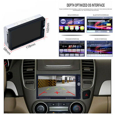 2Din 7 '' LCD Touch Screen Car Radio Bluetooth FM Backup Rear View U Disk Player