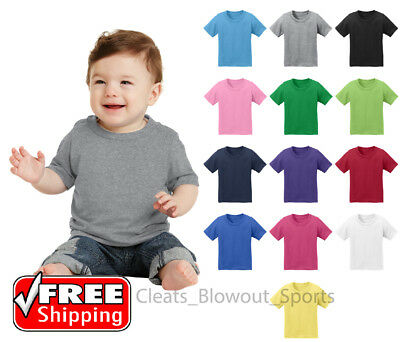 Infant Cotton T-Shirt Colors Plain Solid Colors Baby Tee 6 12 18 Months CAR54I