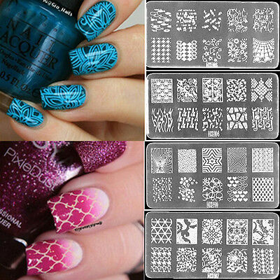 Manicure Nail Art Stamping Platestamperscraper Multi Collection