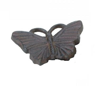 NEW! Cast Iron BUTTERFLY Hide-A-Key *Yard & Garden*Decorative/Security*Burnished