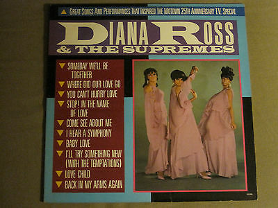 Diana Ross & The Supremes Great Songs & Performances Lp '83 Motown Soul R&b Vg+