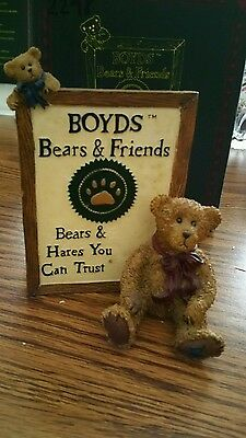 Boyds Bears Figurine Malcolm With Friend