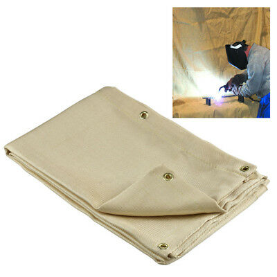 4' x 6' Fiberglass Welding Blanket Fire Flame Retardent Shield Brass Grommets