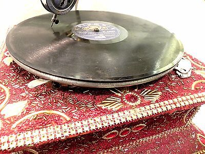 Antique Gramophone Phonograph Crafted Machine With Brass Crafted Horn Soundbox