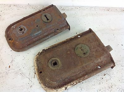 2 Vintage Reclaimed Door Rim Locks Salvaged Old Project Architectural