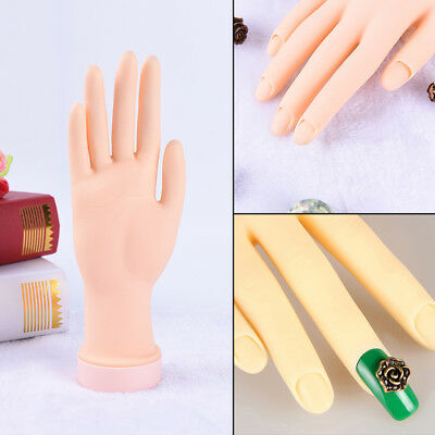 Practice Right Hand Model for Nail Art Training and Display Manicure Supply FH