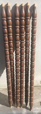 """6 Architectural Salvage Wood Turned Baluster Spindles 25 7/8"""" Furniture DIY"""